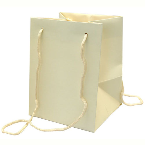 Pack of 10 - Ivory Hand Tie Bags