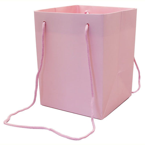 Pack of 10 - Pink Hand Tie Bags
