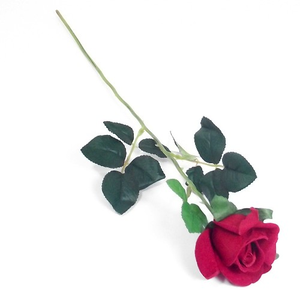 55cm Single Stem Red Rose - Artificial Flower Valentines Day