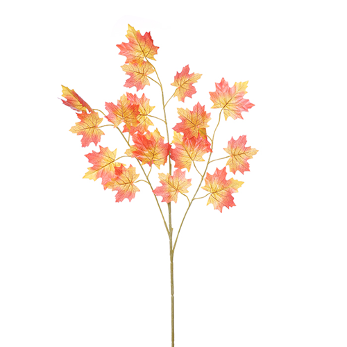 18 x Leaf Maple Spray Orange/Yellow