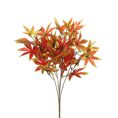 38 cm Maple Leaf Bush Red/Orange/Green