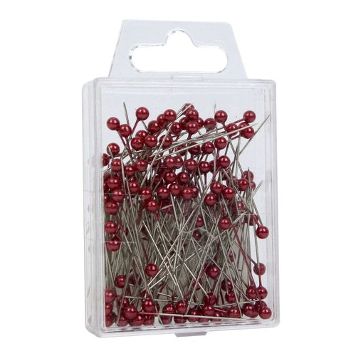 Red Pearl Headed Pins (4cm)