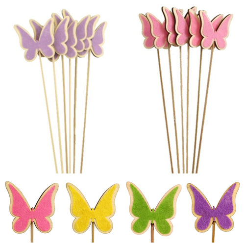 Pack of 6 Butterfly Pick - Floral Florist Bouquet Arrangement Flower