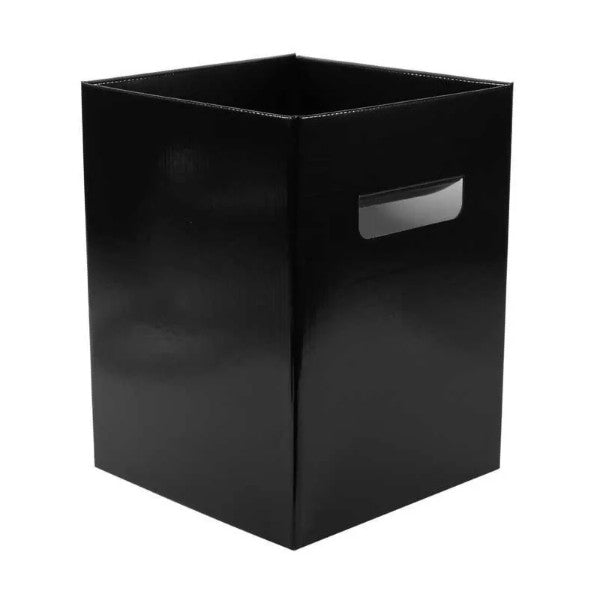 Pack of 10 x Pearlised Black Flower Hat Box with Handles - Storage Florist Home Decoration