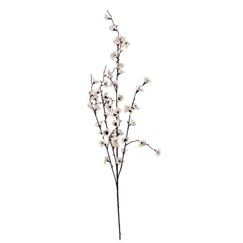 Artificial Ivory Cherry Blossom Spray 96 cm Stem