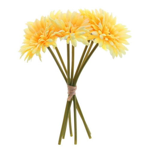 Gerbera bunch yellow x 7 Flowers