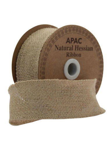 Natural Hessian Ribbon - 50mm x 10 yards - Wreath Christmas Wedding