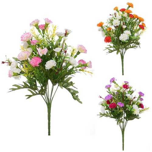 Spray Carnation Bunches - Artificial Silk Flower