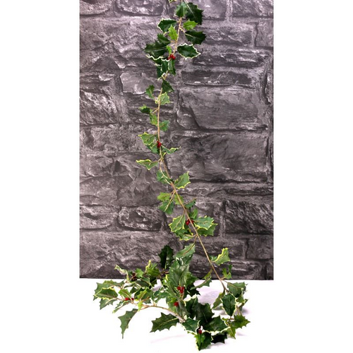 Mixed Green Vari Holly Garland x 128lvs/10 berries (72