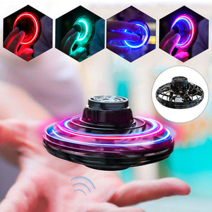 Athletic anti stress hand mini flying led fidget finger spinner