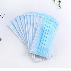 1pc Face Masks Disposable 3 Layers Dustproof Mask Facial Protective Cover Masks Set Anti-Dust Surgical Medical Salon Earloop