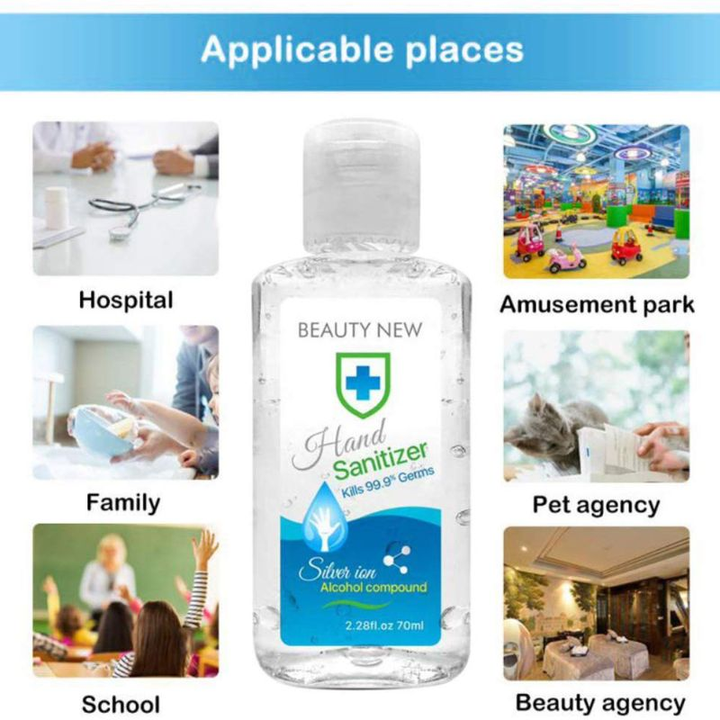 70ml Portable Travel Antibacterial Disposable Hand Sanitizer Gel for Adults/Kids