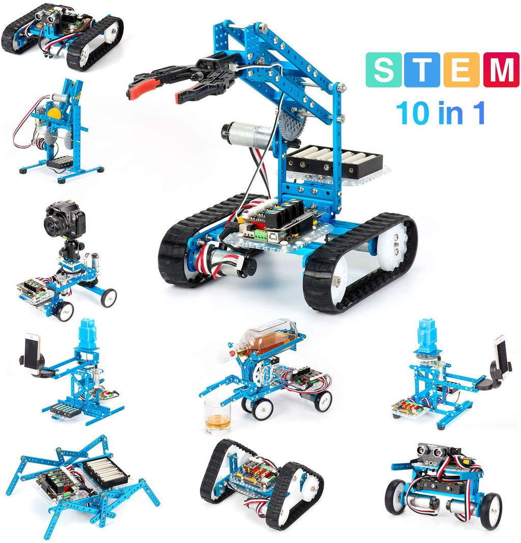 Makeblock DIY Ultimate Robot Kit - 10-in-1 Robot - STEM Education - MegaPi - Scratch 2.0 for Kids, Age 14+
