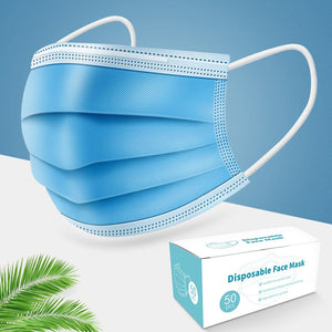 Fast Delivery 3 Layer Anti-dust Mouth Mask Disposable Non-woven Filter Protective Face Masks Anti-pollution Safety Masks