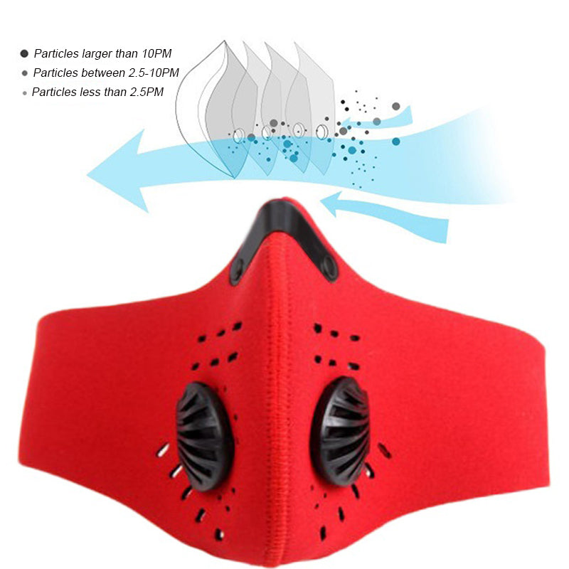 Dust Mask PM 2.5 Neoprene Face Mouth Health