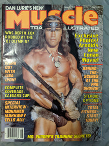 Dan Lurie's New Muscle Training Illustrated -- August 1984 (Arnold Schwarzenegger)