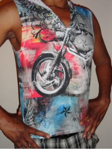 PISTOL PETE MOTORCYCLE MUSCLE SLEEVELESS HOODIE
