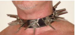 EXTREME STEEL DOG COLLAR WITH LONG METAL POINTS