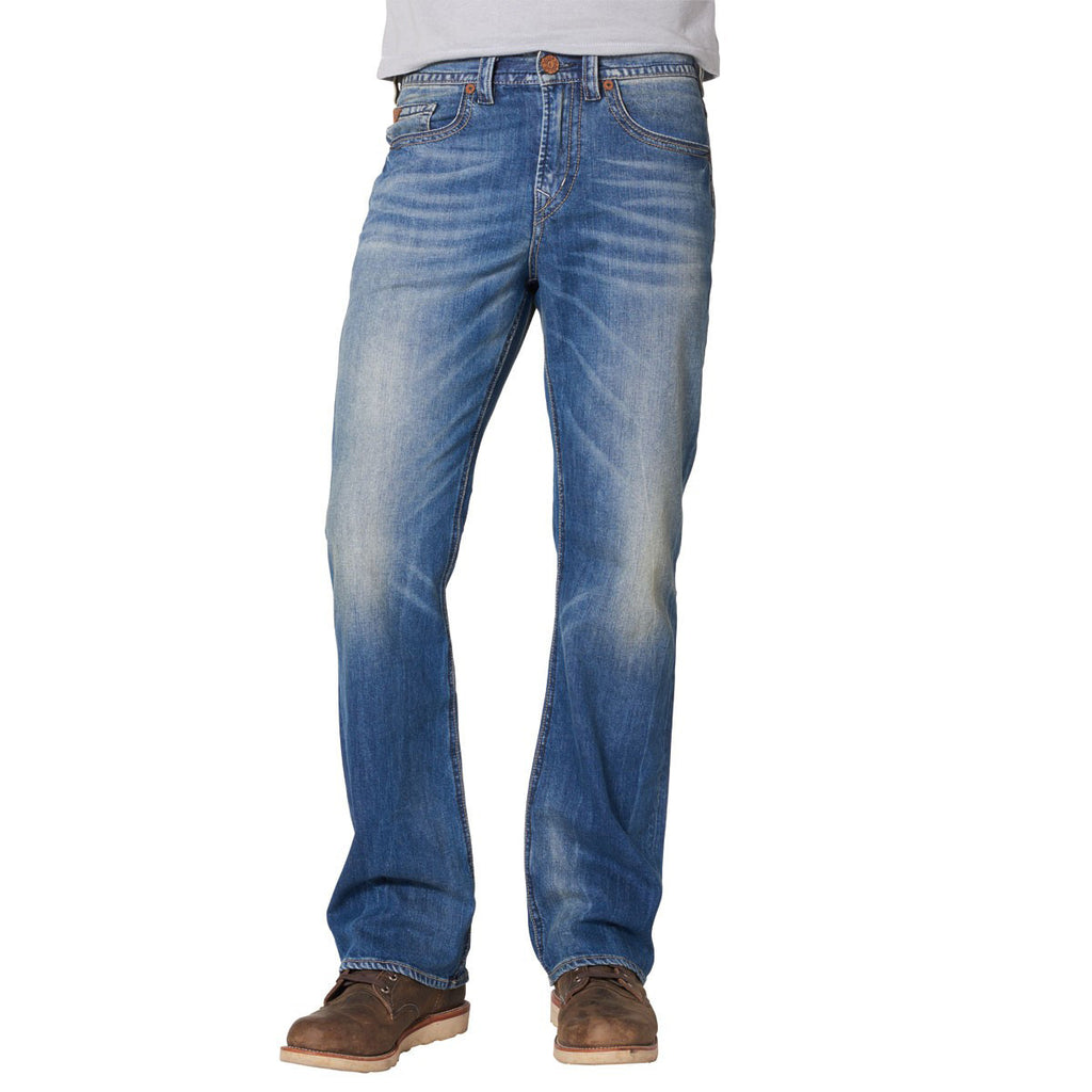 Silver Jeans Mens Craig Easy Fit Medium Wash Indigo Bootcut Jeans