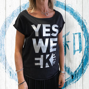 T-shirt Donna Yes Weekend - Gidesign