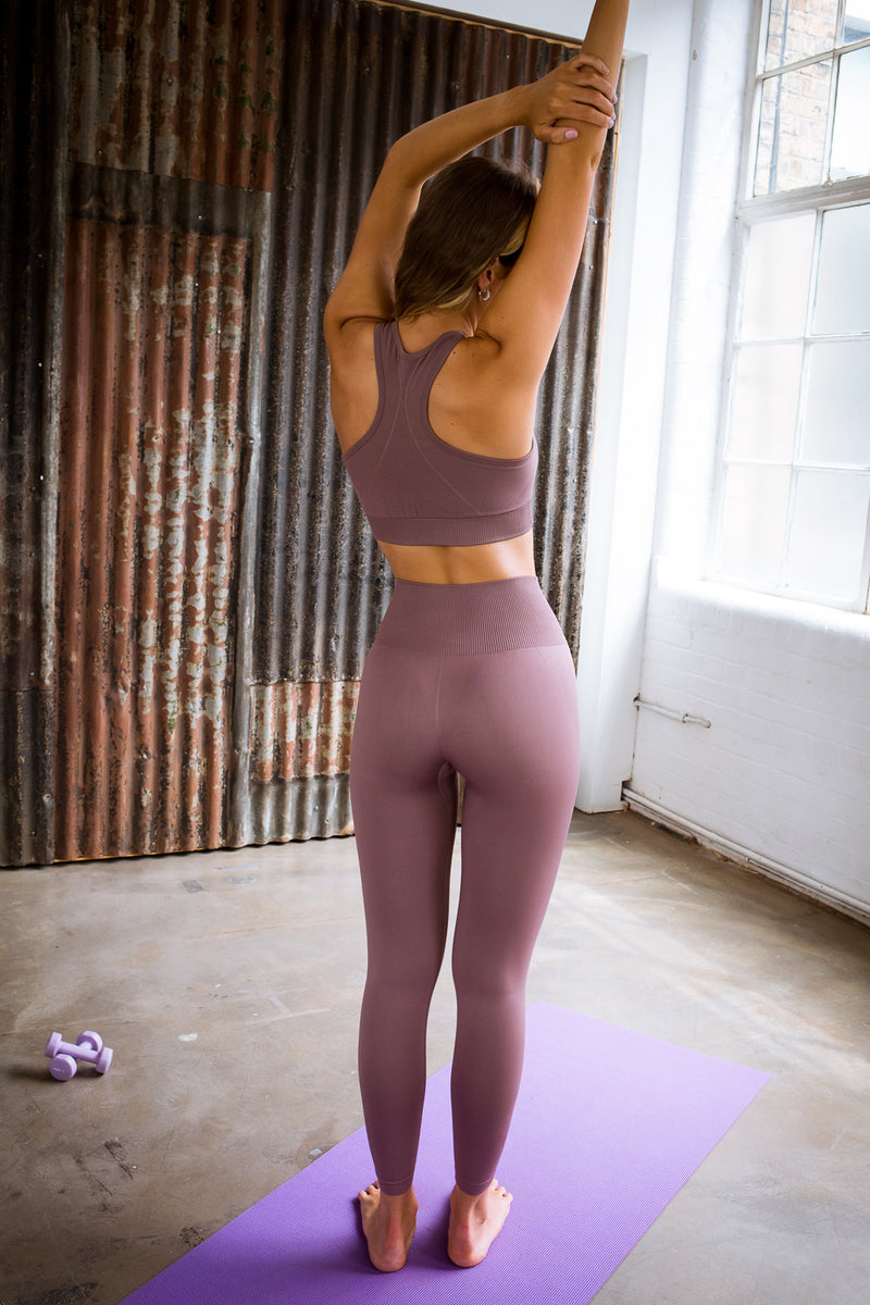 2 Piece Mauve Yoga Set (Top & Bottom)