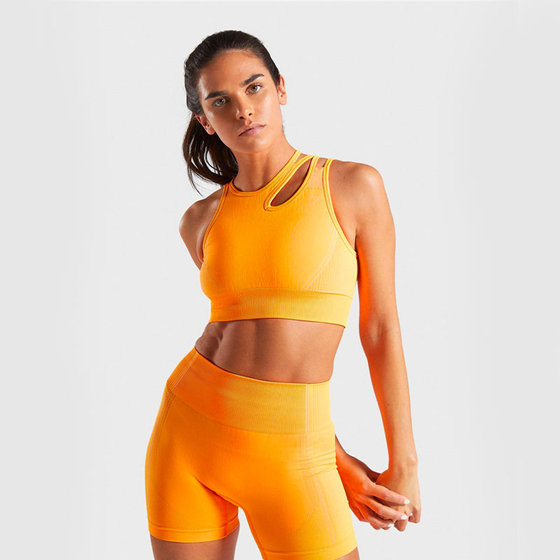 Supportive 2 Piece Set (Top & Bottom) - Orange