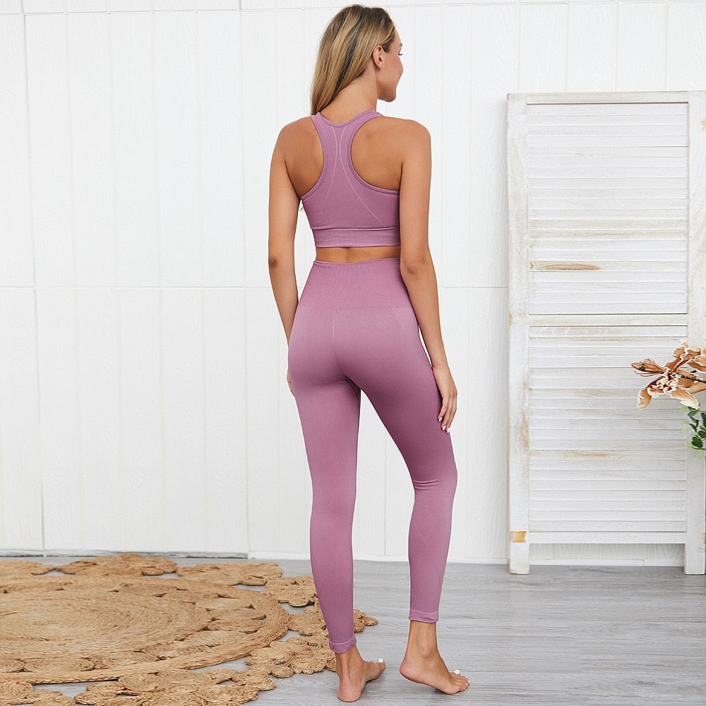 2 Piece Lavender Yoga Set (Top & Bottom)