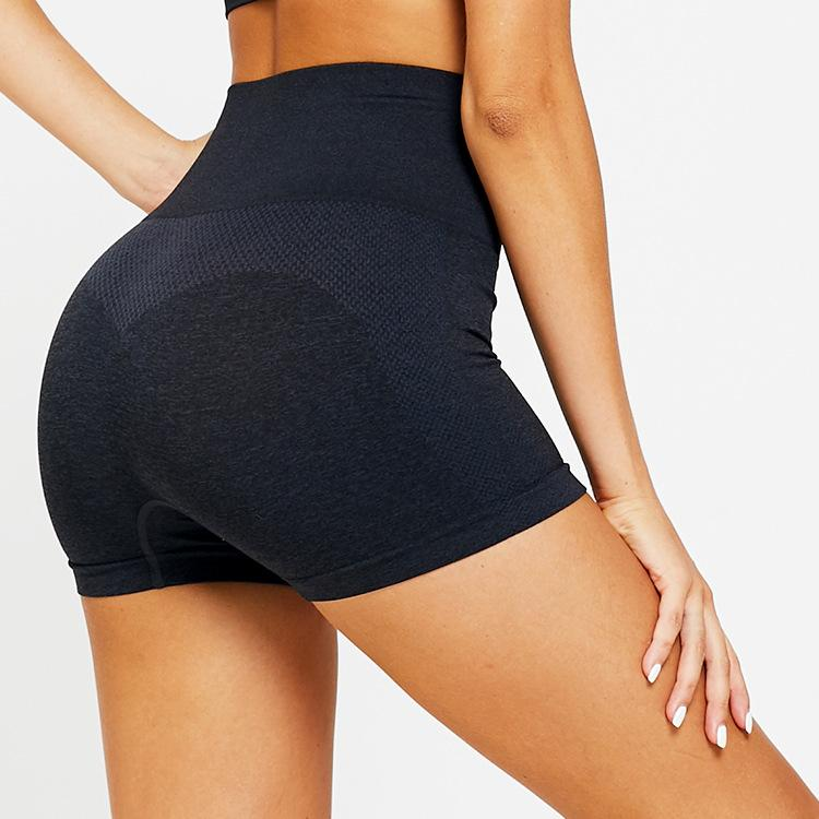 High Waist Contour Workout Shorts - Blue
