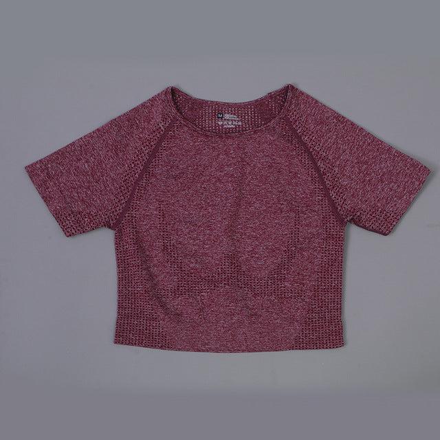 Contour Crop Top - Wine Red