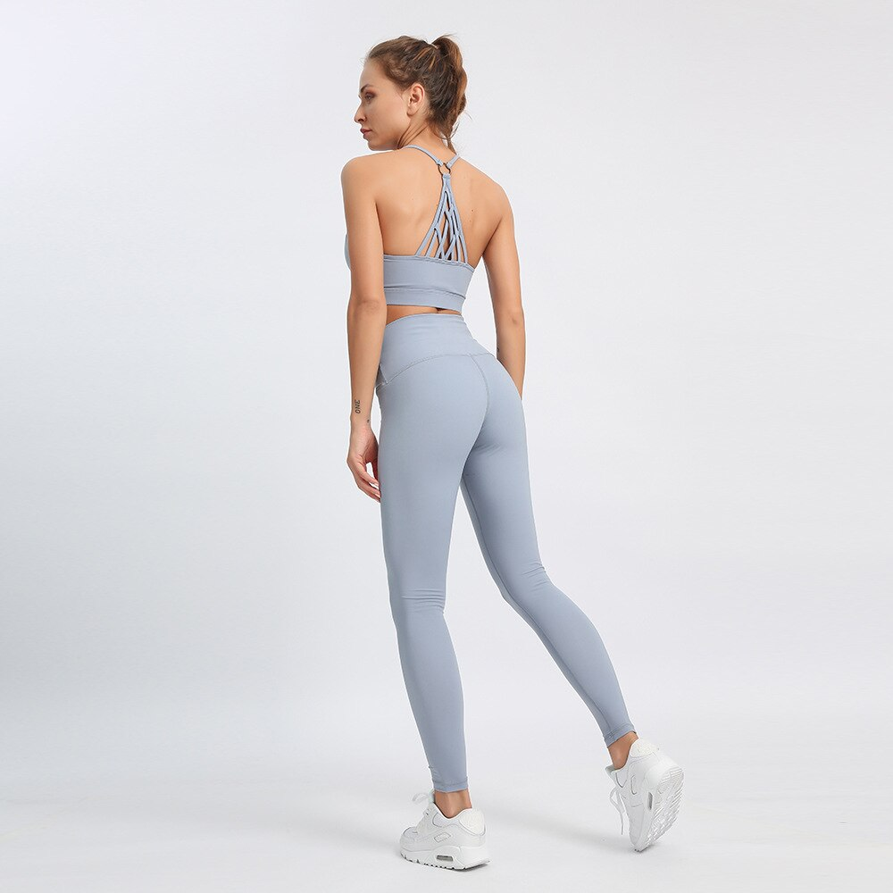 Light Grey 2 Piece Yoga Set