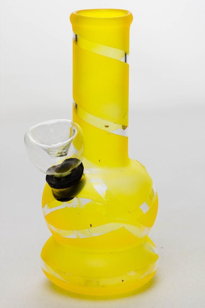 "5"" color glass mini water bong"