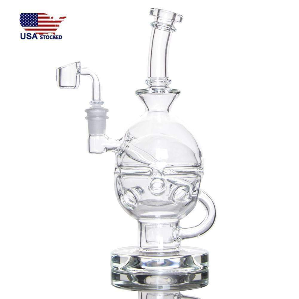 9 inch Fabsphere with Flower of Life perc 14.5mm