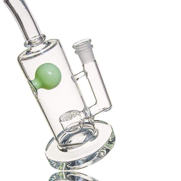 9.8 inch Dab Rig with Flower of Life perc to Splash Guard 14.5mm