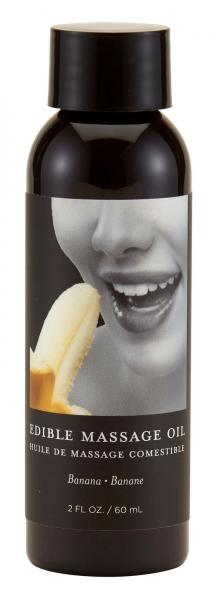 Earthly Body Edible Massage Oil Banana 2oz