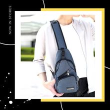 Load image into Gallery viewer, [Ready Stock]USB Charging Canvas Men Unisex Crossbody Shoulder Sling Bag