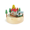 Caja Musical Wooderful life - lámpara Wooden Animated Mountain and Train