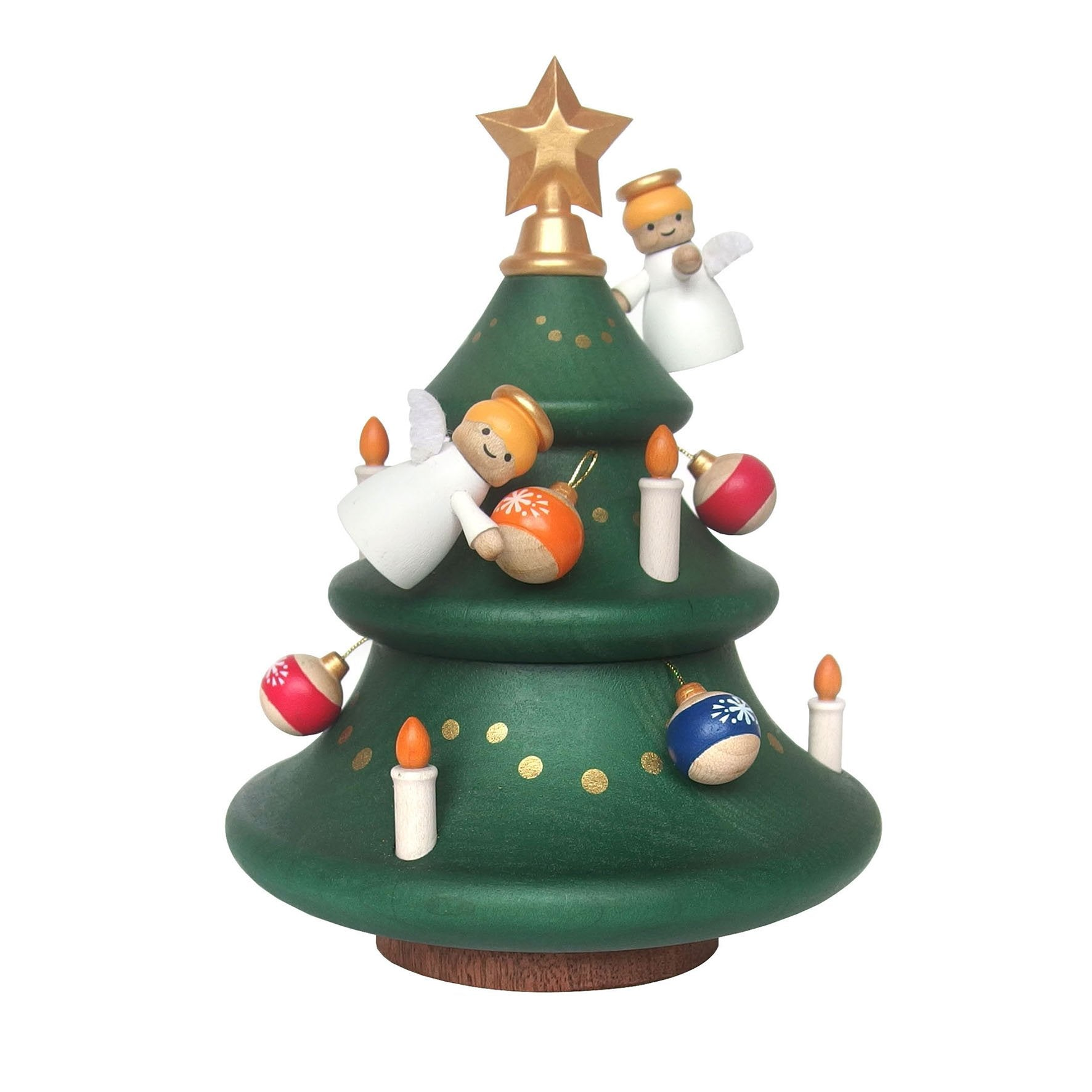 Cajita Musical Wooderful Life Angels Decorating Tree