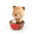 DECO Wooderful life– Bobbler Cat Spring Decorations