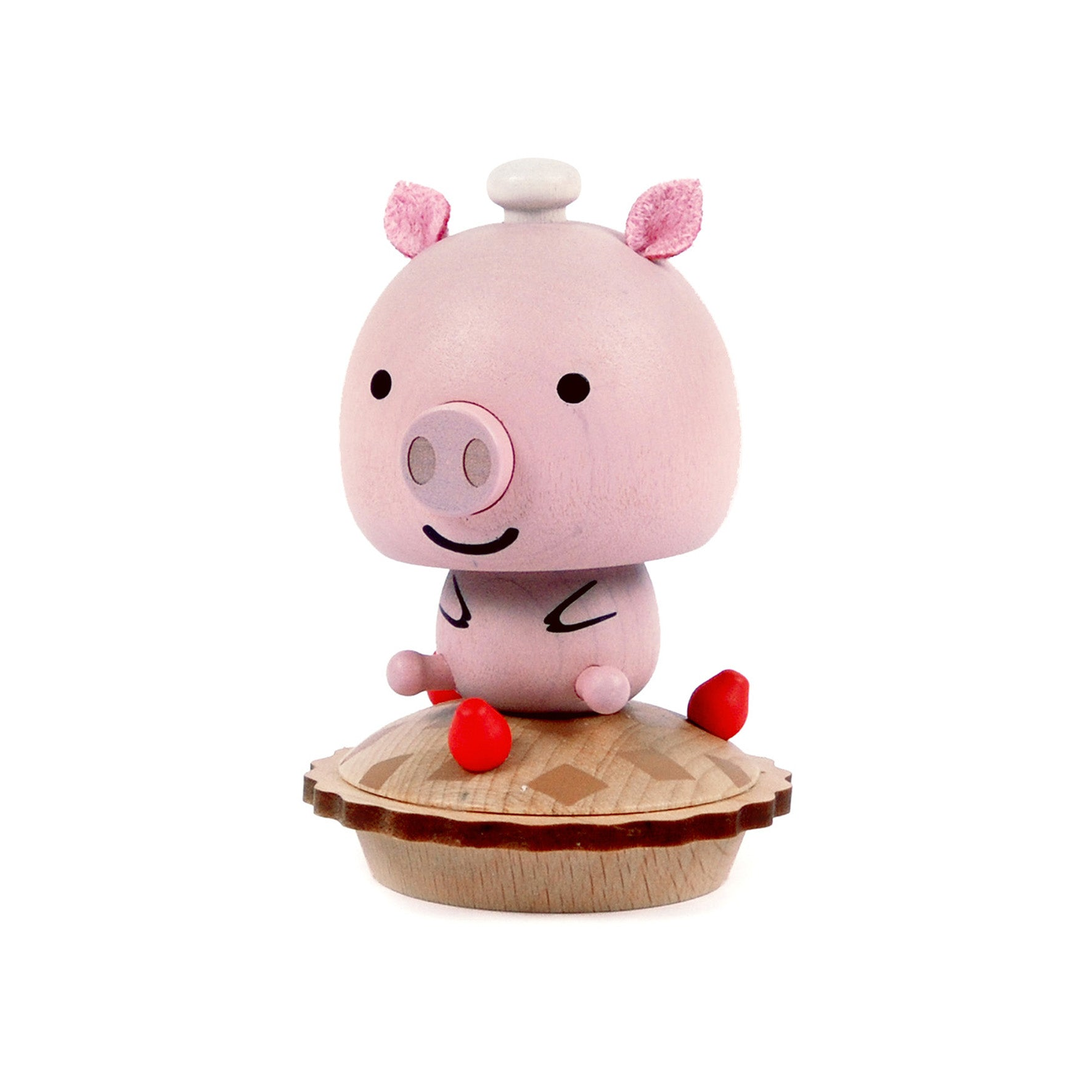 DECO Wooderful life– Bobbler Pig  Spring Decorations
