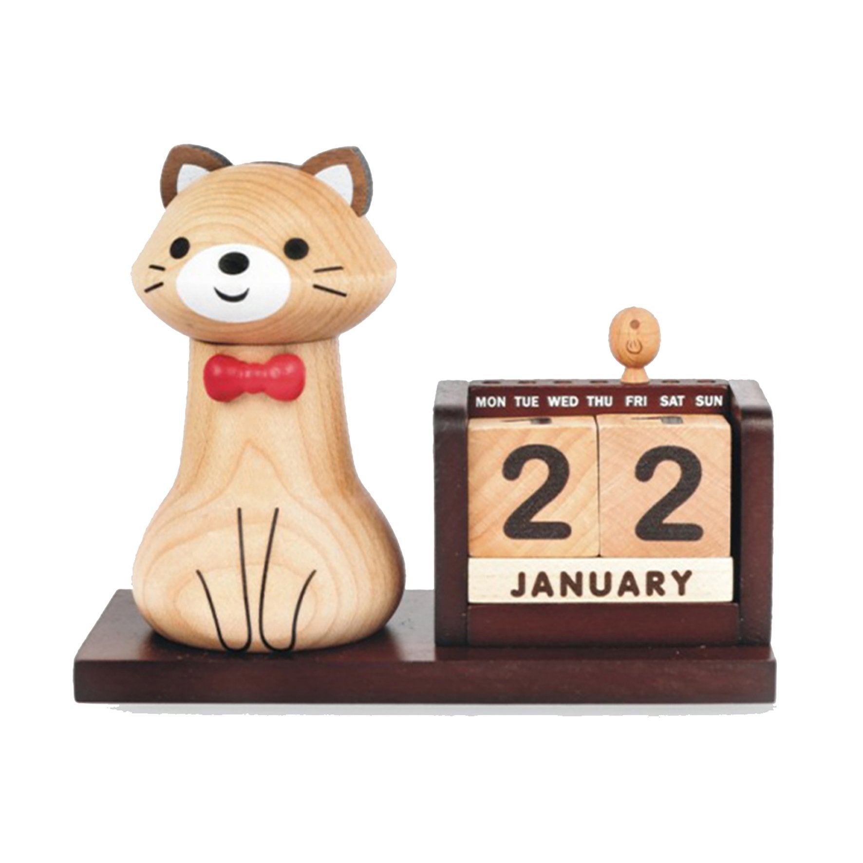 DECO Wooderful Life - Calendario Lápiz Gato