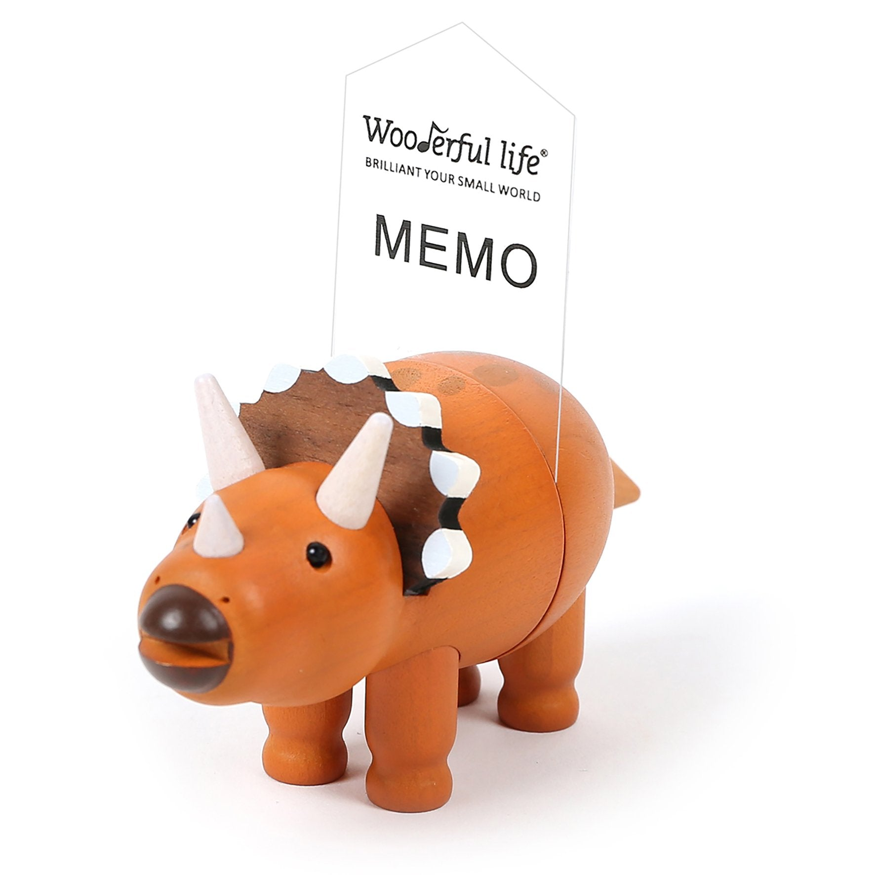 DECO Wooderful Life - Memo Clip Magnético Triceratops