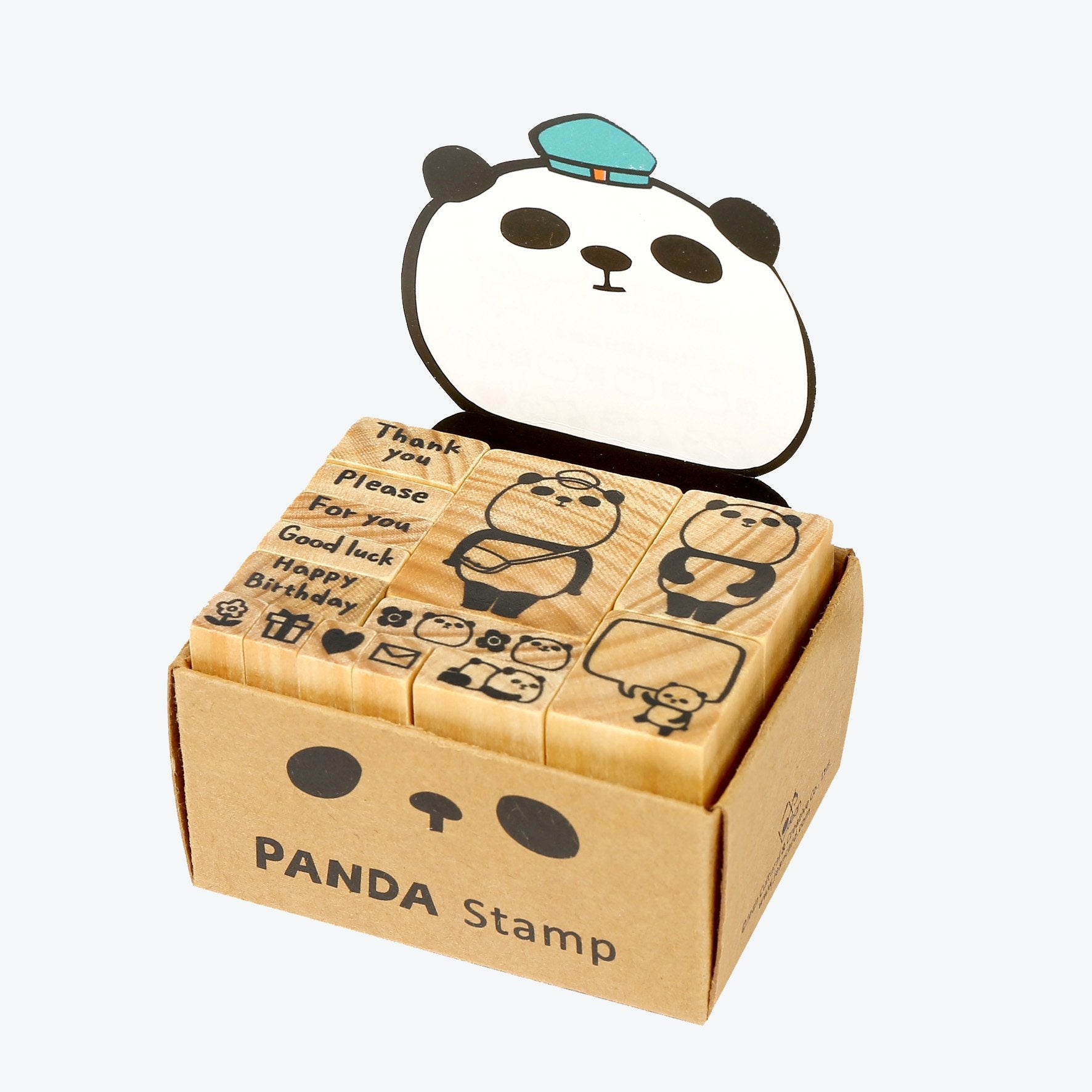 DECO Wooderful Life - Panda Set de Timbres