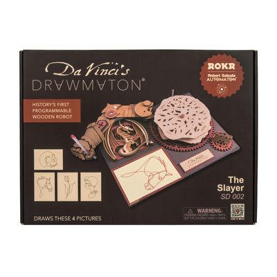 Puzzle 3D madera Robotime –  The slayer Da Vinci's Drawmaton
