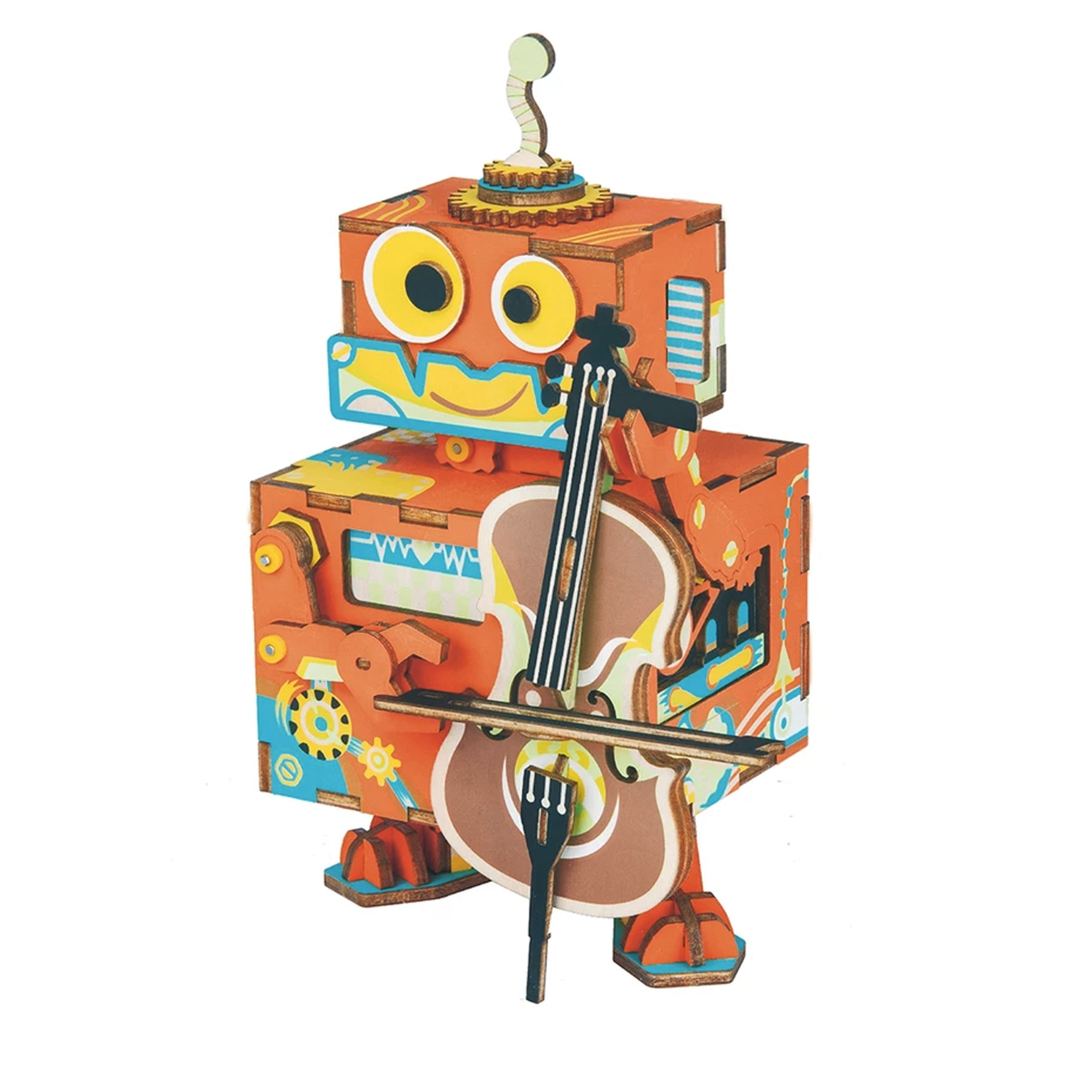 Puzzle 3D madera Robotime – Little Performer MB caja musical