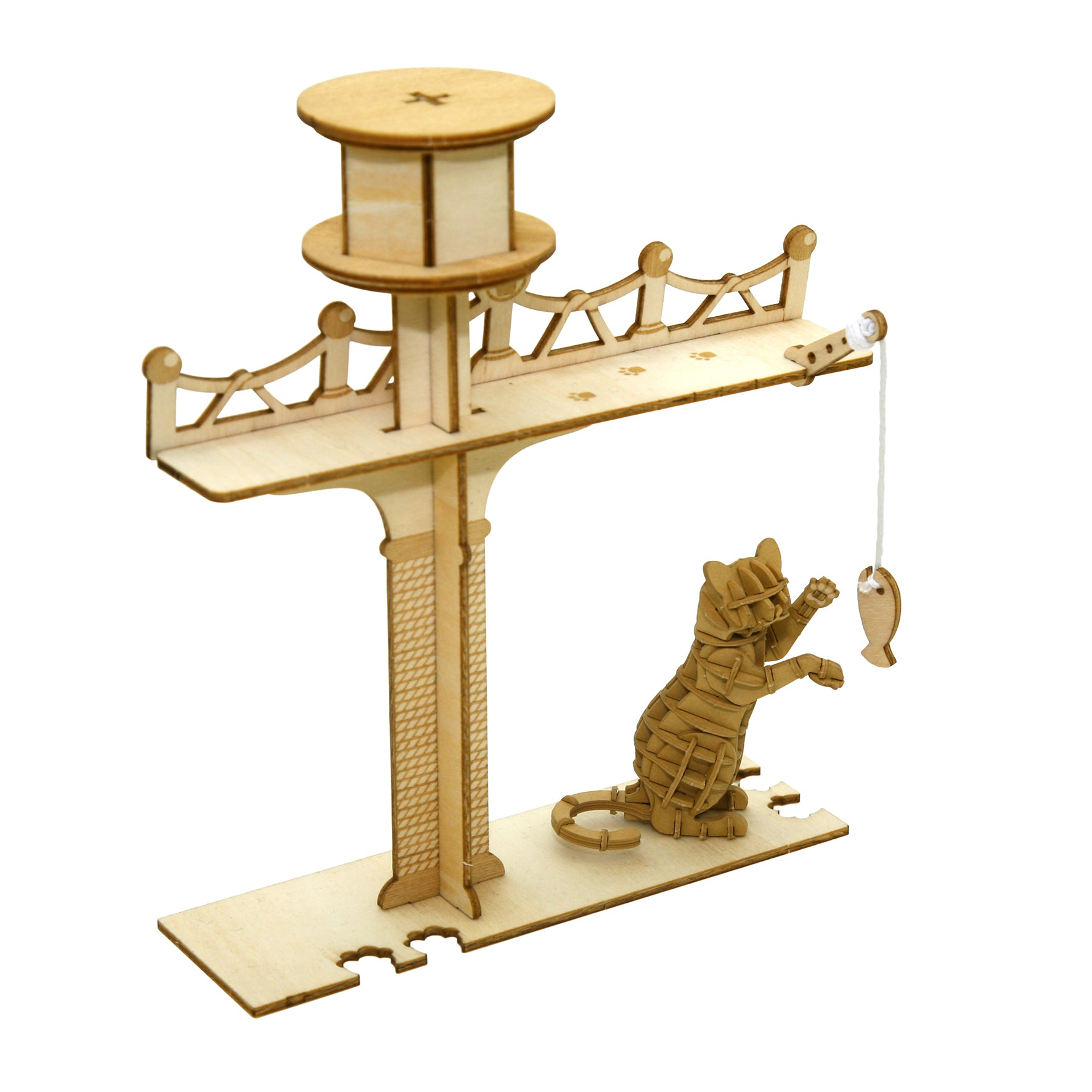 Puzzle 3D madera Jigzle – Playing cat