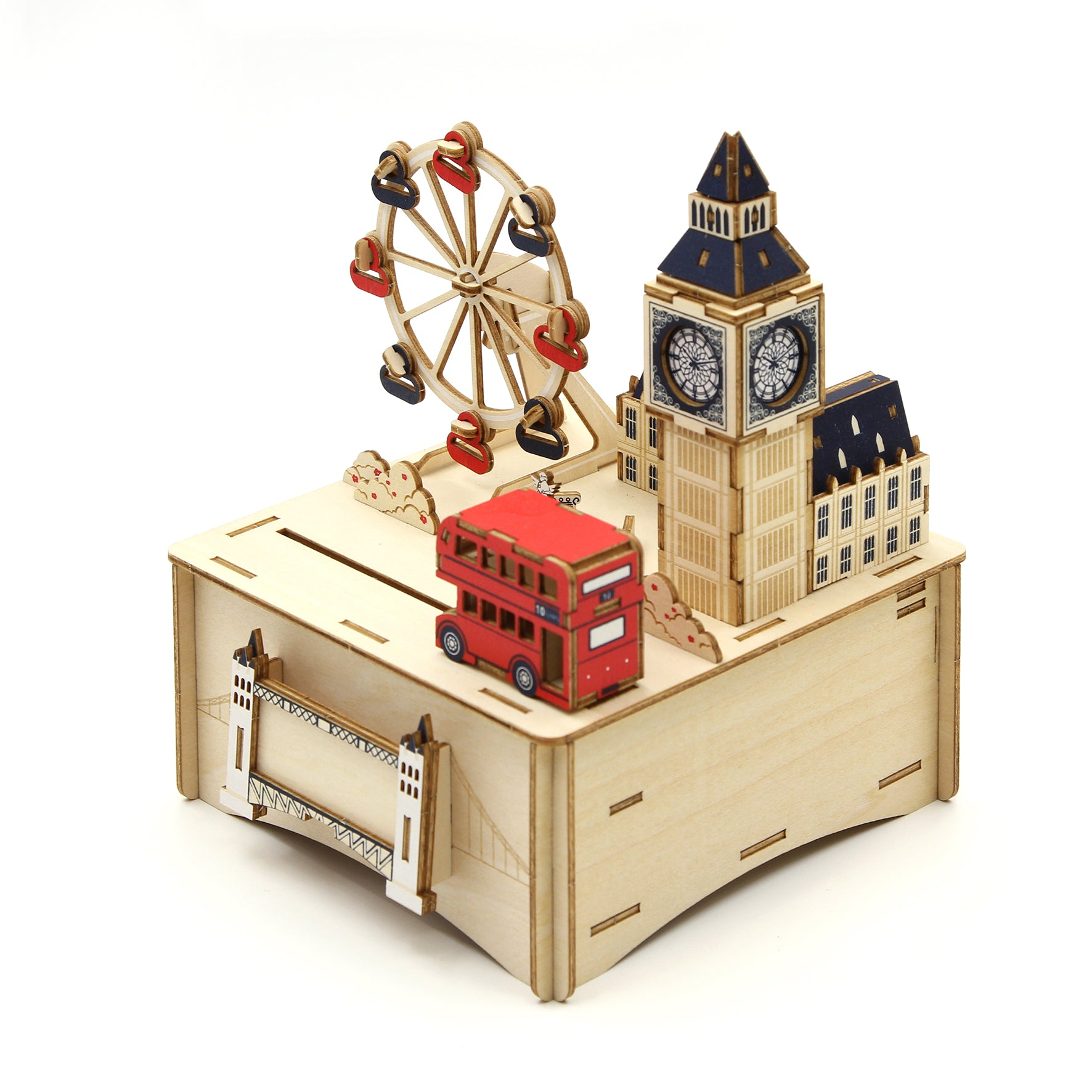 Puzzle 3D madera Jigzle – London MB caja musical
