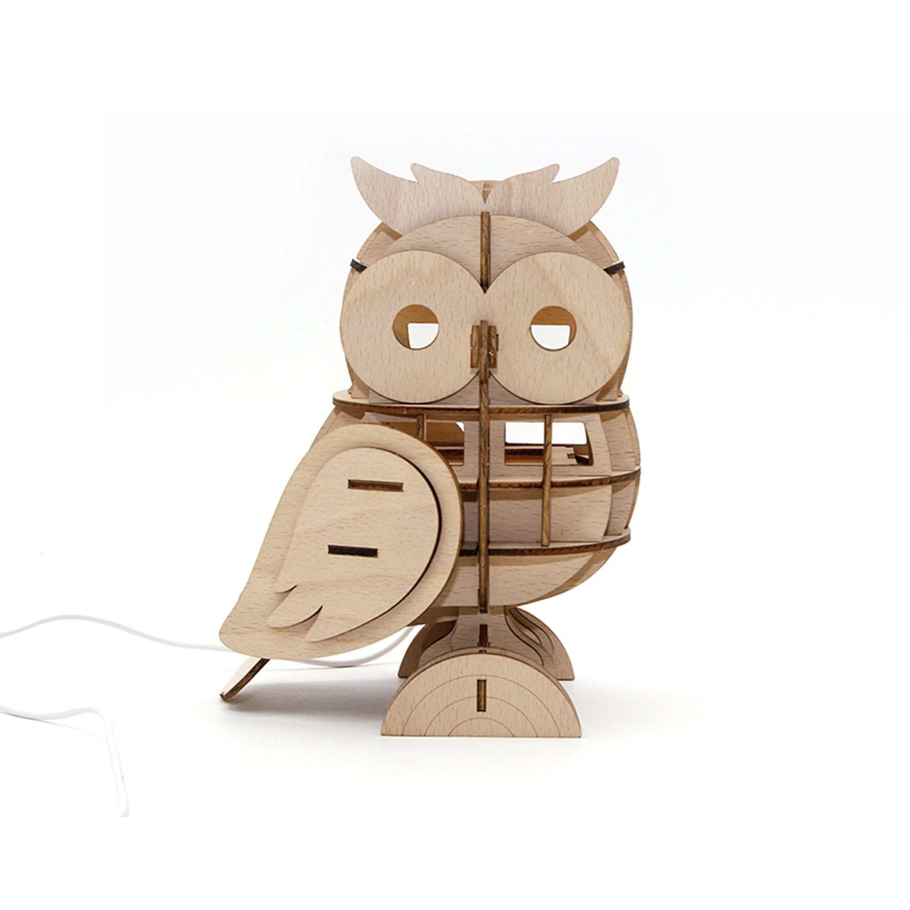 Puzzle 3D madera Jigzle – Owl lámpara armable