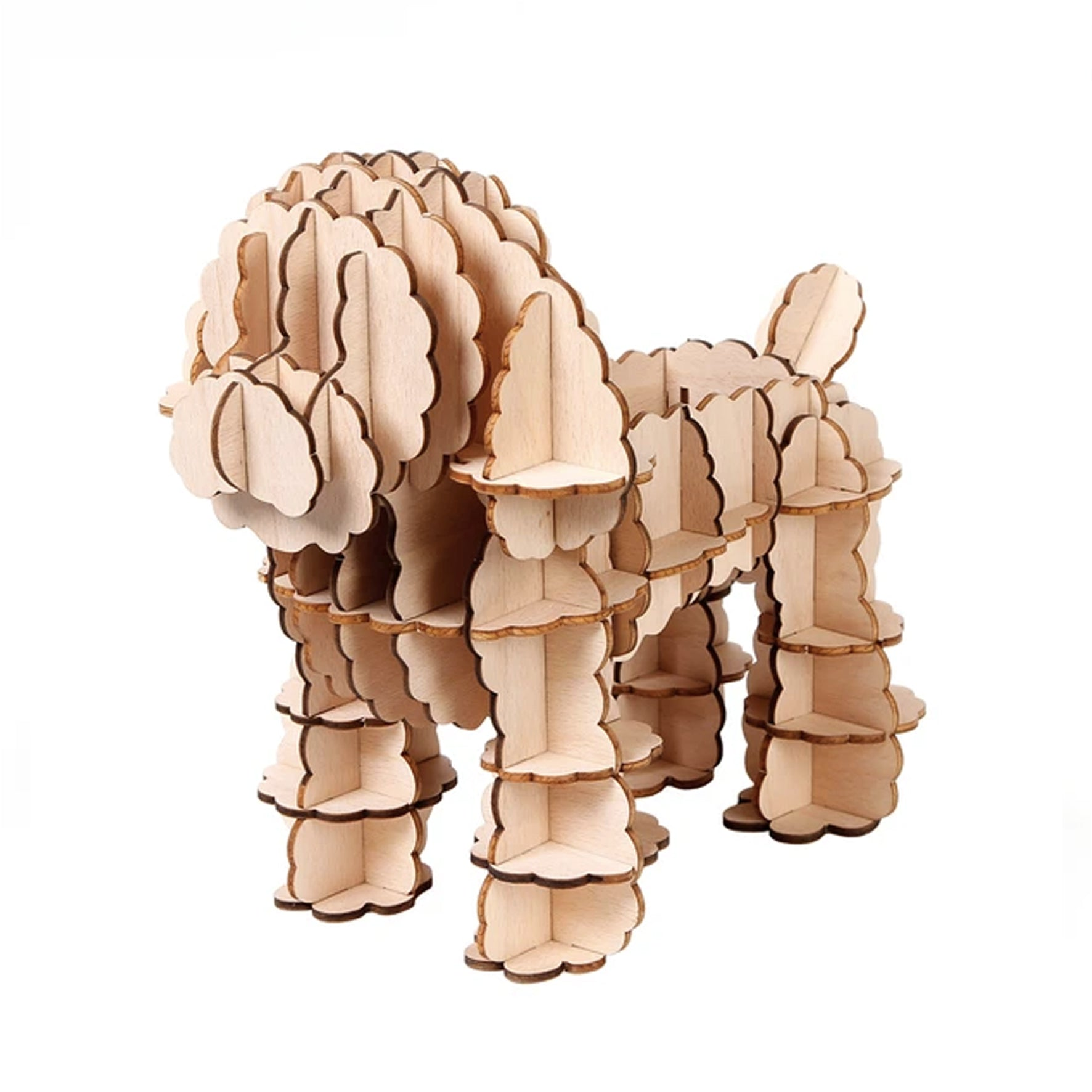 Puzzle 3D madera Jigzle – Poodle toy