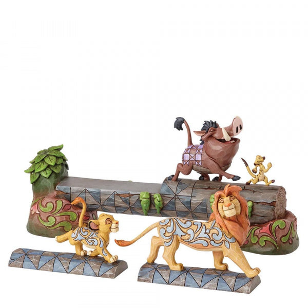 Disney Enesco Traditions Jim Shore 4057955 König der Löwen Simba Timon Pumba Carefree Camaraderie