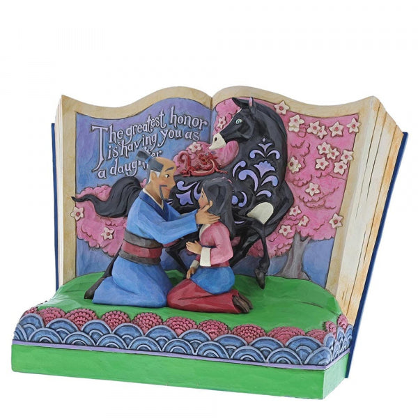 Disney Enesco Jim Shore Traditions Storybook 4059729 Mulan The Greatest Honor is You as a Daughter